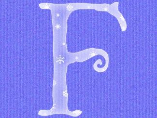 Frosty Alphabet